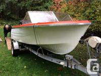 Fiberform 17 foot with 75 mariner; new carbs; has
