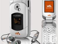 White Walkman phone with MP3 player and FM radio. In