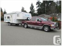 2000 Mallard 27 ft fifth wheel w. two single beds and