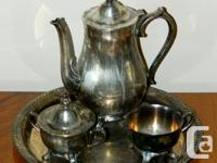 FINEST QUALITY INTERNATIONAL SILVER CO. TEA SERVICE 4
