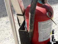 Selling a fire extinguisher and mount for a headache