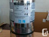 CHROME CONTAINER FIRE EXTINGUISHER 6 LITRE WET for sale  Ontario