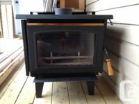 Timber range with chimney ect. In excellent problem,
