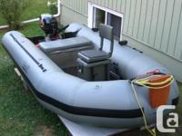 In Excellent Condition--2000 Zodiac,12.5ft Fish-n-Hunt