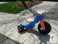 Fisher Price Trike - Runs fine. a Little discolored but