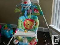 For sale an excellent condition baby swing.It has three