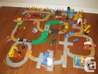 HUGE FISHER PRICE GEOTRAX COLLECTION - 136 pieces - A