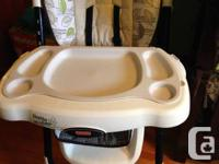 Fisher Cost High Chair has a brand-new soft padded seat