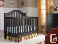 * Pink custom made crib rail covers included. They fit
