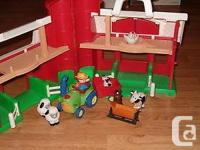 Fisher price,larger barn & farm animals,tractor