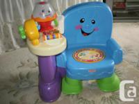 """UNISEX"" MUSICAL CHAIR, WAS GENTLY USED AT GRANDMA'S,"