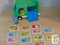 Fisher Price Little People ABC Delivery Truck Loaded
