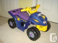 Fisher Price 4X4 Motorized Lil Quad with charger and