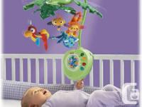 The Fisher-Price rainforest mobile  $30  Excellent