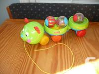 Fisher-Price Roll-a-Rounds Pull & Spin Caterpillar -