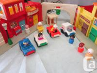 Vintage Play Family Village by Fisher Price. This