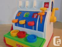 Fisher Price Vintage 1970's Cash Register Complete With