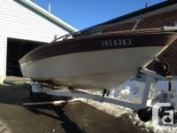 - 50hp fishing boat, comes with motor and trailer - 16