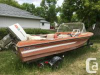 Early 1970's model - 14ft fibreglass boat with 40hp