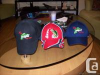 BASEBALL HATS WITH FISHING LOGOS .HAVE 50 . BRAND NEW