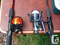 For sale are a Woodstream fishing box with contents and