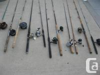 Freshwater ,Lake , saltwater Fishing rods and reels