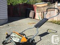 This is a state-of-the-art push mower: eco-friendly,