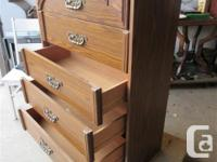 THIS FIVE DRAWER IS 32 INCHES WIDE, 16 INCHES DEEP & 45
