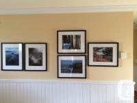 Five lovely framed Hornby Island photographs, framed