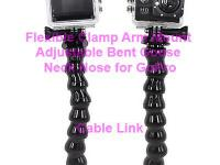 Flexible Clamp Arm Mount Adjustable Bent Goose Neck