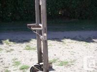 Antique hand truck for moving boxes of grapes, apples,