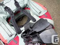"""Buck's Bags float tube """" Top Gun """" with Outcast fins"""