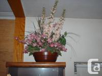 Artificial Florals With Planters (2) + Artificial Vines