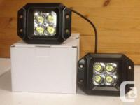 "New!! 2pc 20w Cree LED flush mount driving light, 3"""
