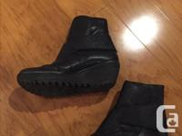 Leather Fly London boots in good condition, size 10