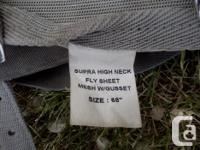 As per the pictures this is a used fly sheet that is