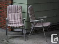 2 collections of folding chairs for patio/deck or?