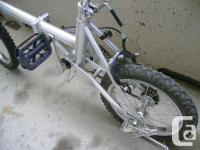 Folding Vincente, a single speed, 14 inch wheels almost