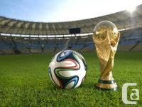 I just received my match tickets to FIFA World Cup