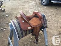 15 inch barrel and gaming saddle. Lightly used. Looking