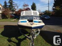 Bow rider with trailer. Hummingbird fishfinder, 60