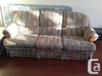 for sale: fabric sofa, coffee table, TV stand, computer