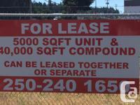 Sq Ft 45000 For Lease: 5,000 sqft Unit & 40,000 sqft