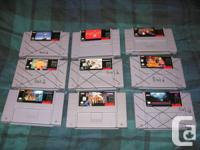 I am selling the NES and SNES games that are listed