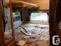 Sleeps 5: double mattress, dinette folds down to double