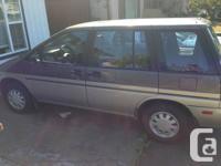 1990 Nissan Axxes van, 5 speed, all wheel drive, runs