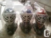 I have 7 hockey helmets ornaments and 2 jerseys shelf