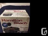 For sale brand new Hamilton beach electronic cooker,