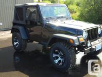 Make Jeep Model TJ Year 2000 Colour BLACK kms 260000