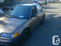 Make Honda Model Civic Sedan Year 1991 Trans Automatic